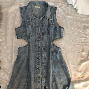Denim Cutout Dress